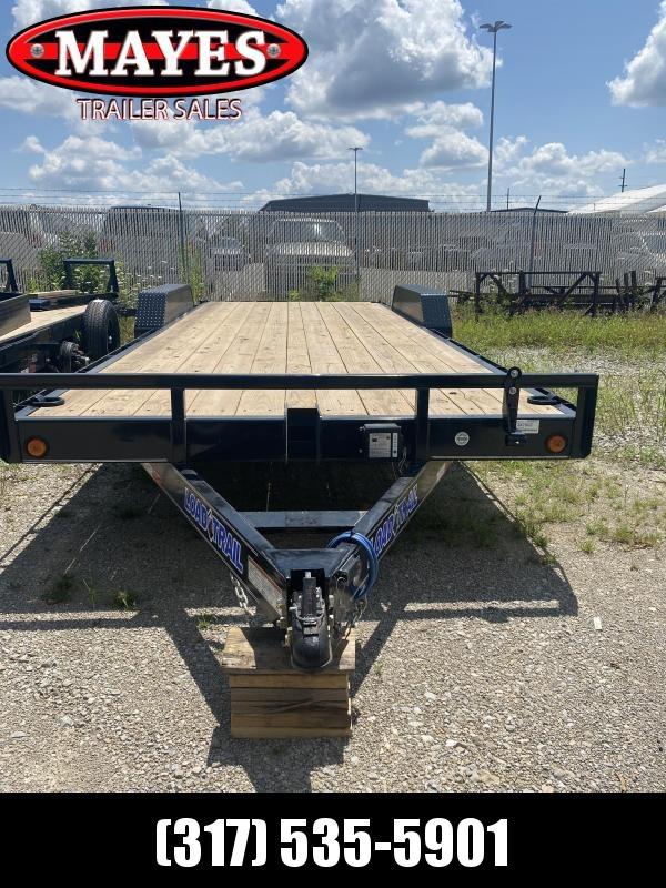 2021 Load Trail XH8322072 Equipment Trailer - 83x22 (20+2) TA - Fold Up Ramps - D-Rings - Rub Rail - Diamond Plate Removable Fenders (GVW:  14000)