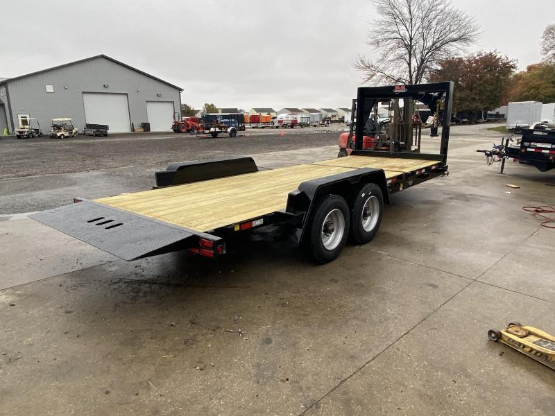 2021 B-B TBCT2220ETGN-10K Equipment Trailer -83x22 (6+16) TA Gooseneck Tilt - Torsion Axles - 3 Inch Channel Crossmembers - D-Rings - 10K Jack (GVW:  20000)