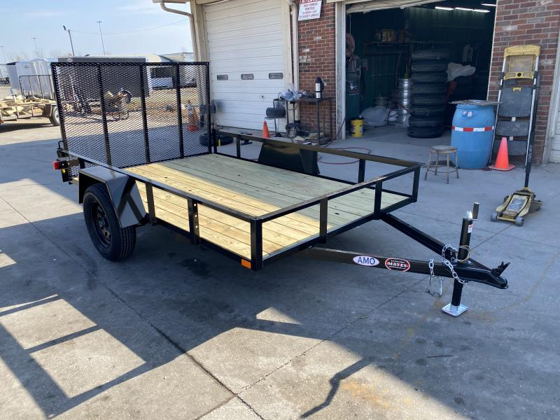 2021 American Manufacturing Operations (AMO) US101 Utility Trailer - 76 Inch x 10 Foot SA - Treated Wood Floor - Tailgate (GVW;  2990)