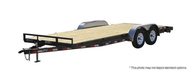 "2021 PJ Trailers 22'x5"" Channel Carhauler Trailer - C5222 - 83x22 (20+2) - Dovetail - Slide In Ramps (GVW:  7000)"