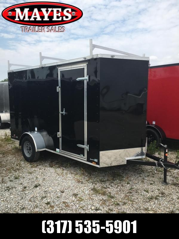 2021 Cargo Mate SSV612SA Enclosed Cargo Trailer - 6x12 SA - Double Door - Ladder Racks - 6 Inch Additional Height (GVW:  2990)
