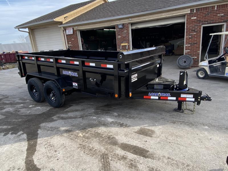 2021 Load Trail DT8314072 Dump Trailer - 83x14 TA - Tarp Kit - Slide-In Ramps - 24 Inch Dump Sides - 2 Way Gate - D-Rings - Spare Tire MOUNT ONLY (GVW:  14000)