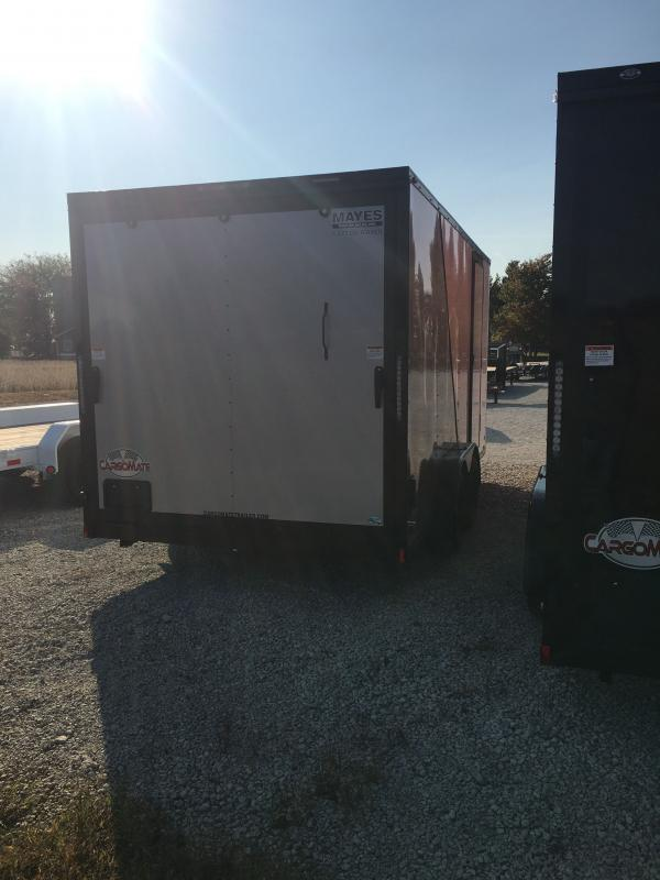2021 Cargo Mate EHW716TA2 Enclosed Cargo Trailer - 7.5x16 TA - Two-Tone - Side by Side Package - Black Out Package - Ramp Door - 12 Inch Additional Height (GVW:  7000)