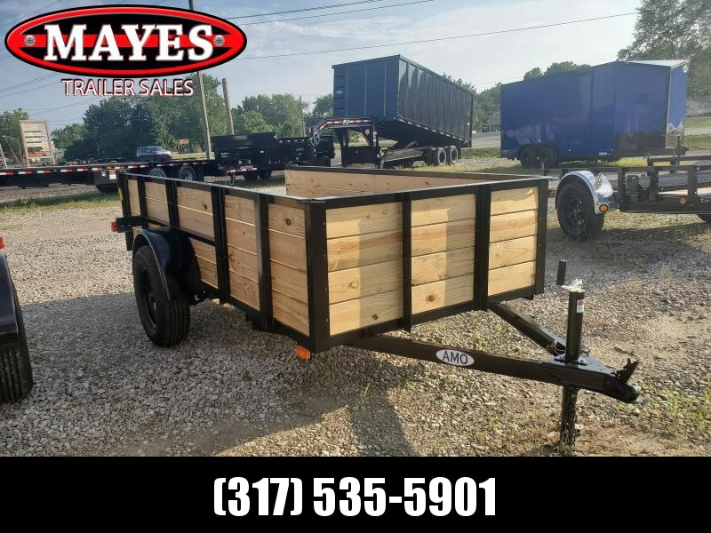 2020 5x10 SA American Manufacturing Operations (AMO) US101 Utility Trailer - High Sides - Tailgate (GVW:  2990)