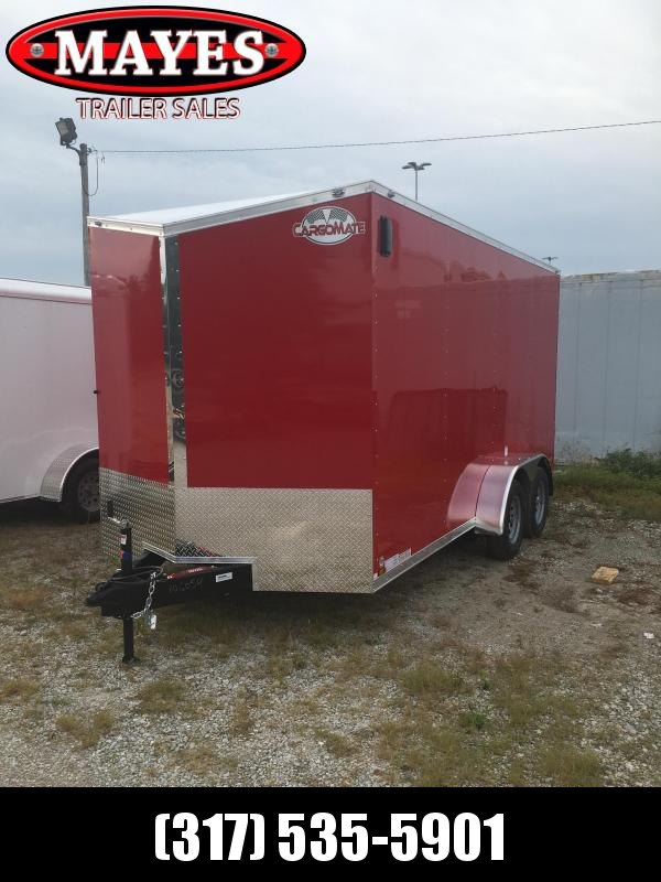 2021 Cargo Mate EHW716TA2 Enclosed Cargo Trailer - 7x16 TA - Side by Side Package - 12 Inch Additional Height - D-Rings - Aluminum Roof - Ramp Door (GVW:  7000)