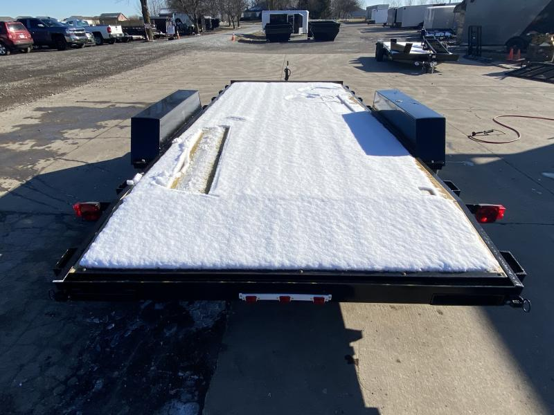 2021 American Manufacturing Operations (AMO) UT182 Utility Trailer - 82x18 (16+2) TAUT - Treated Wood Floor - Rear Slide In Ramps (GVW:  7000)