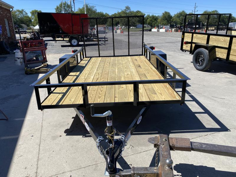 2021 American Manufacturing Operations (AMO) US121 Utility Trailer - Treated Wood Floor - Tailgate - 2 Inch Coupler (GVW:  2990)