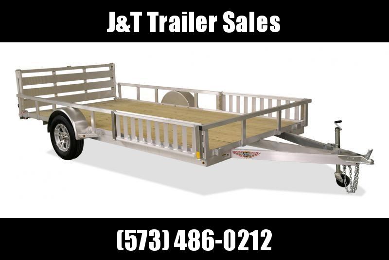 2021 H&H Trailers 82x14 Aluminum ATV Trailer 3K Idler (H8214RSAV-030) ATV Trailer