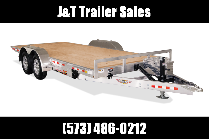 2021 H&H Trailers 82x20 Aluminum Electric Tilt Speed Loader Car Hauler 10K (H8220EXA-100) Car / Racing Trailer