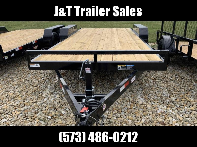 2021 H&H Trailers H8218+2HDFD-100 Heavy Duty Car / Racing Trailer