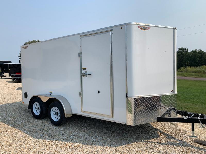 2022 H&H Trailer 7x14 HH Series Flat Top V-Nose Enclosed Cargo Trailer 7K Brake (H8414TFTV-070) Enclosed Cargo Trailer