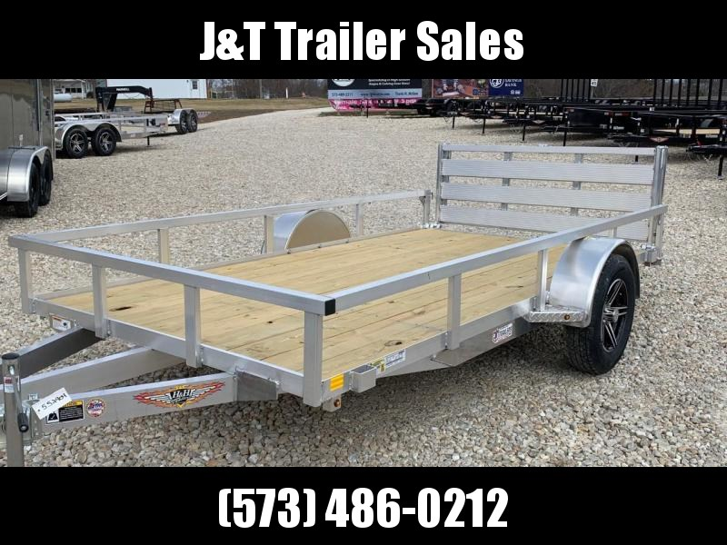 2021 H and H Trailer 76x10 Aluminum Rail Side Utility Trailer 3K Idler (H7610RSA-030) Utility Trailer
