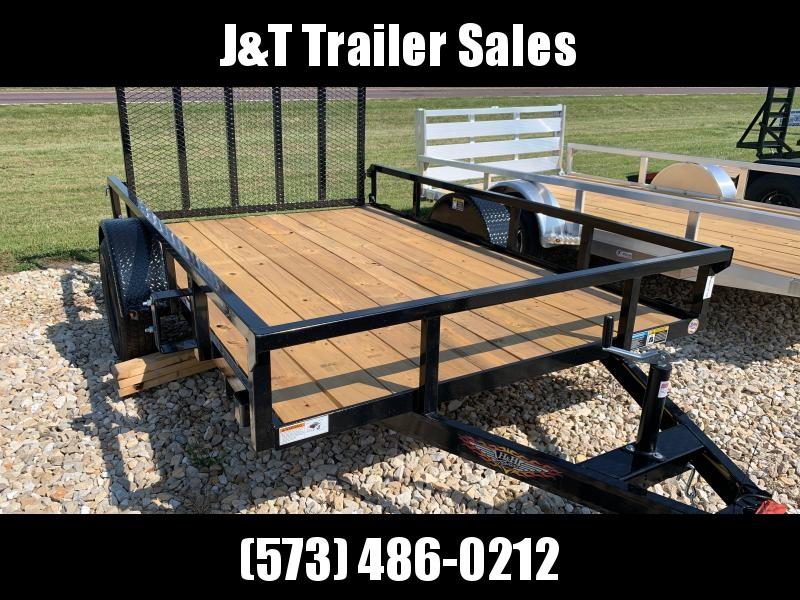 2021 H&H Trailers 76x10 Rail Side Utility Trailer 3K Idler (H7610RS-030) Utility Trailer