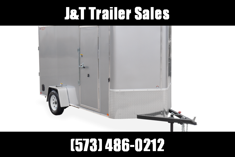 2021 H & H Trailers 6x12 HH Series Flat Top V-Nose Enclosed Cargo Trailer 3K Idler (H7212SFTV-035) Enclosed Cargo Trailer