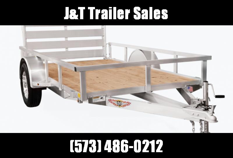 2021 H&H Trailers 76x12 Aluminum Rail Side Utility Trailer 3K Idler (H7612RSA-030) Utility Trailer