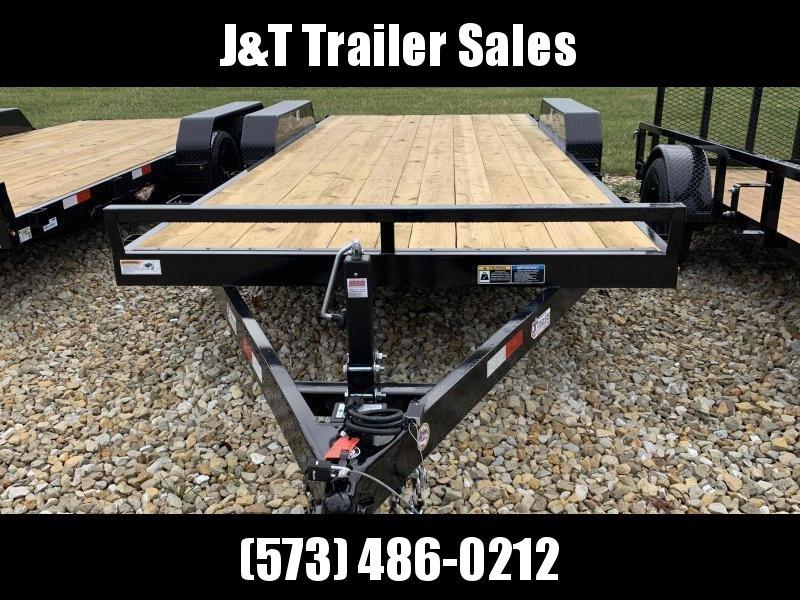 2021 H&H Trailers H8218+2HDFD-100 Heavy Duty Car / Racing Trailer