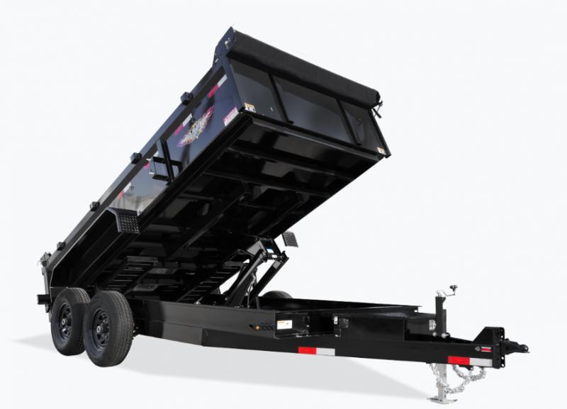 2021 H and H Trailer 83x14 Industrial Dump Trailer 14K Scissor (H8314DBW-B-140) Dump Trailer