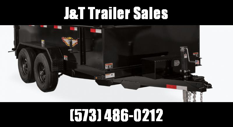 2021 H&H Trailers 76x12 Utility Dump Trailer 10K Single Ram (H7612UD-24-100) Dump Trailer