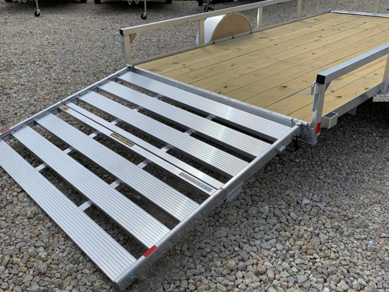 2021 H&H Trailers 82x14 Aluminum Rail Side Utility Trailer 7K Tandem (H8214TRSA-070) Utility Trailer