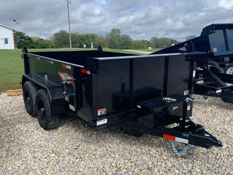 2022 H&H Trailers 76x10 Utility Dump Trailer 10K Single Ram (H7610UD-24-100) Dump Trailer