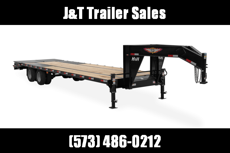 2021 H&H Trailer H25+5SDBCL-GN19-200 Equipment Trailer