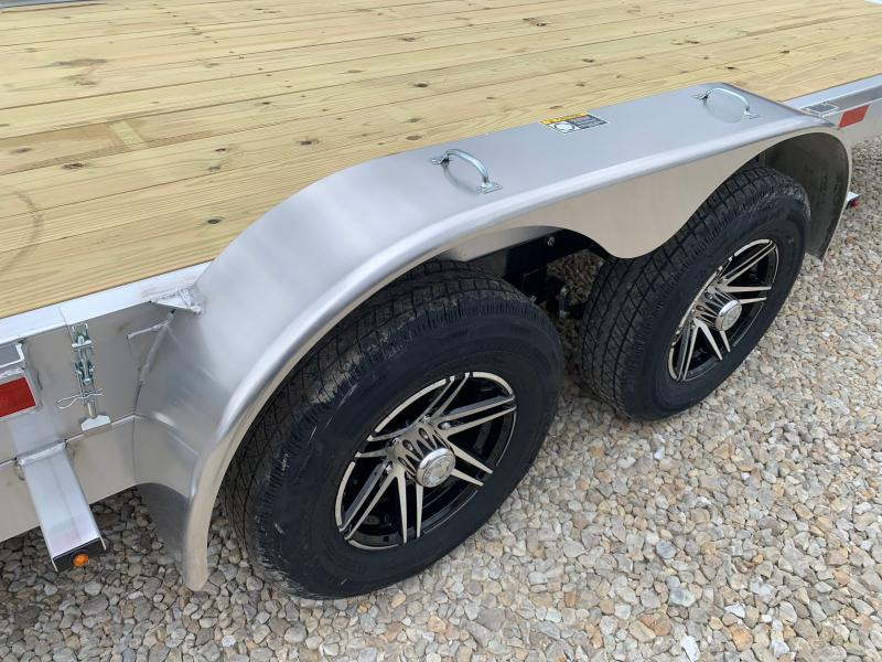 2021 H&H Trailers 82x20 Aluminum Electric Tilt Speed Loader Car Hauler 10K (H8220EXA-100) Car / Racing Trailer