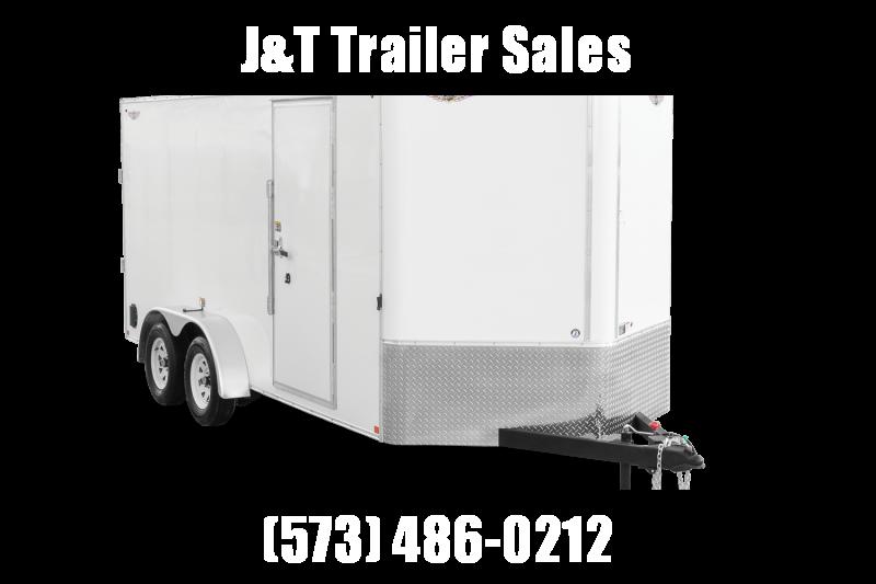 2021 H&H Trailer 8.5x16HH Series Flat Top V-Nose Enclosed Cargo Trailer 7K Brake (H10116TFTV-070) Enclosed Cargo Trailer