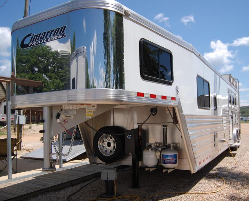 2020 Cimarron Trailers 3H 15' Trail Boss Conversion Horse Trailer