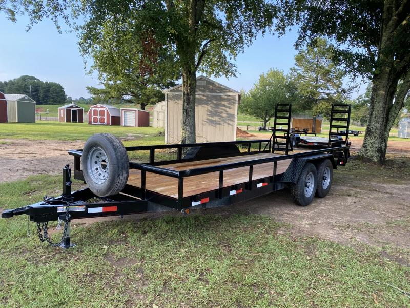 2020 C&W Trailers 7-20PT-7K-FB2 Equipment Trailer