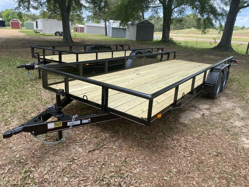 "2021 Triple R 82"" X 20' TDM-2-3500-1BRAKE Utility Trailer"