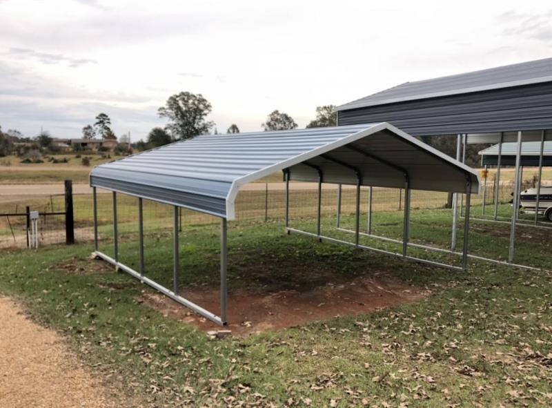 2020 Quality Outdoor Products  18x20x6 Classic Carport Garage/Carport