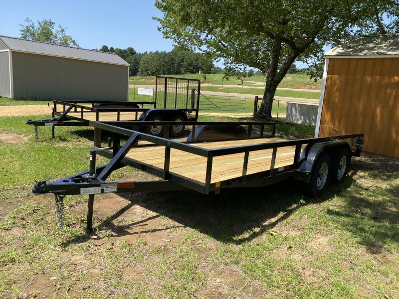 "2020 C&M 76"" X 16' Tube Top Utility Trailer"