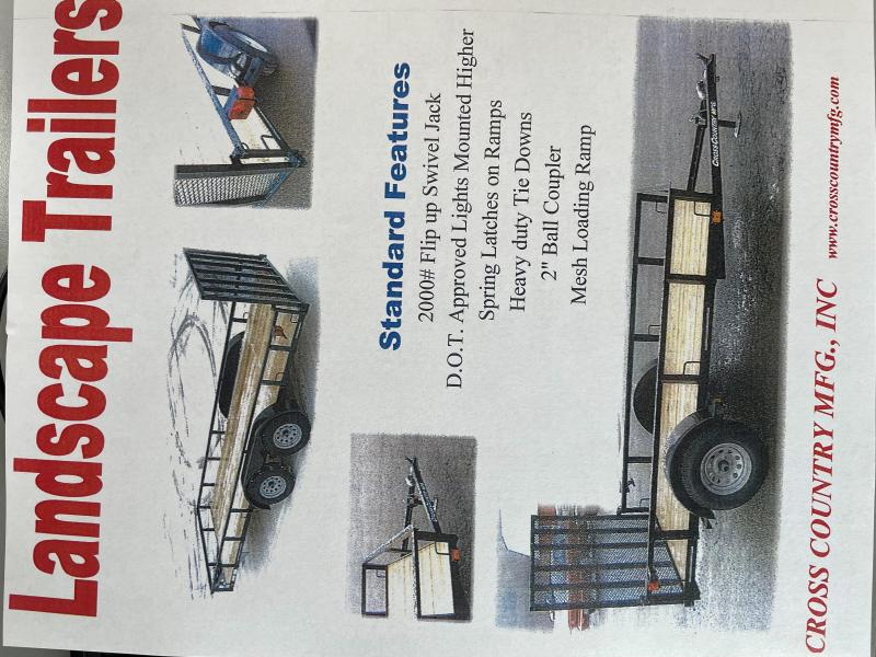 2022 Cross Country Manufacturing 61235tk Utility Trailer