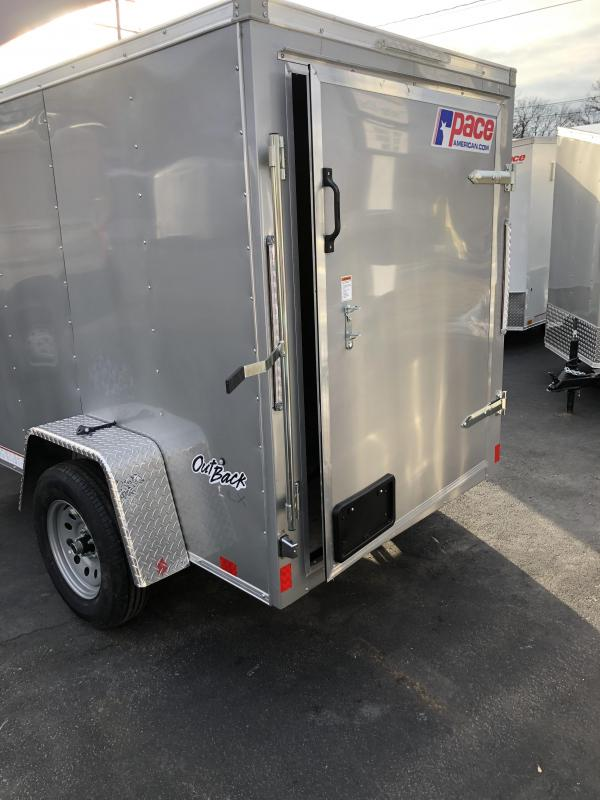 2021 Pace American outback5x8 Enclosed Cargo Trailer