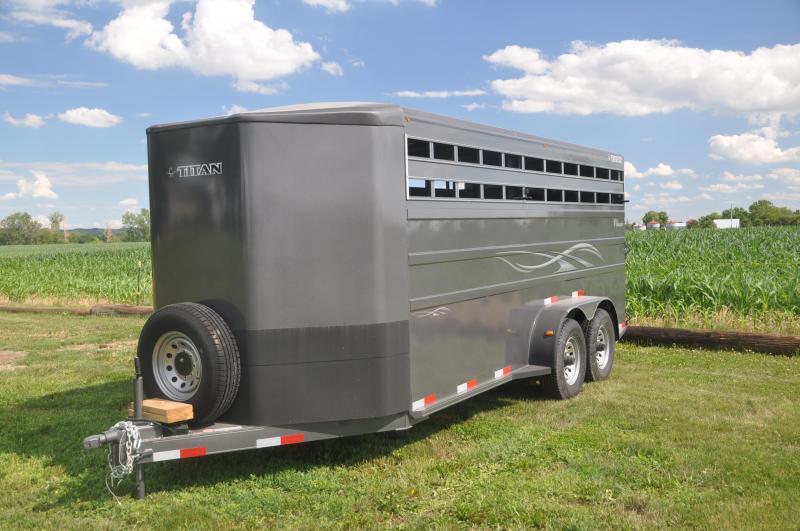 2020 Titan Trailers TCS18 Livestock Trailer
