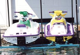 Brown's Marina  Marie Railway Boats in a marine wailway
