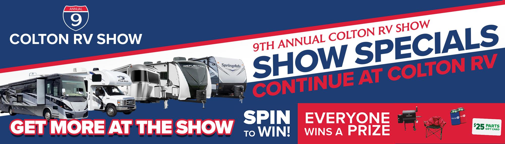 9th Annual Colton RV Show at Seneca Allegany Resort & Casino