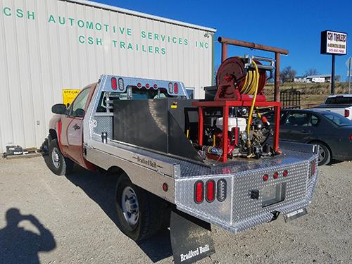 Work truck at CSH Trailers in Westphalia, Missouri