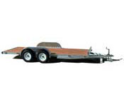Aluminum Open Flatbed Car Trailers