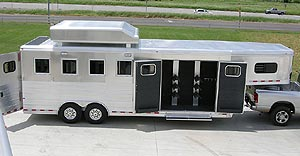 Bloomer Trailers Great West Trailer And Truck In Colorado 2 3 And 4 Smc Bloomer Elite Exiss Horse Trailers And Living Quarters