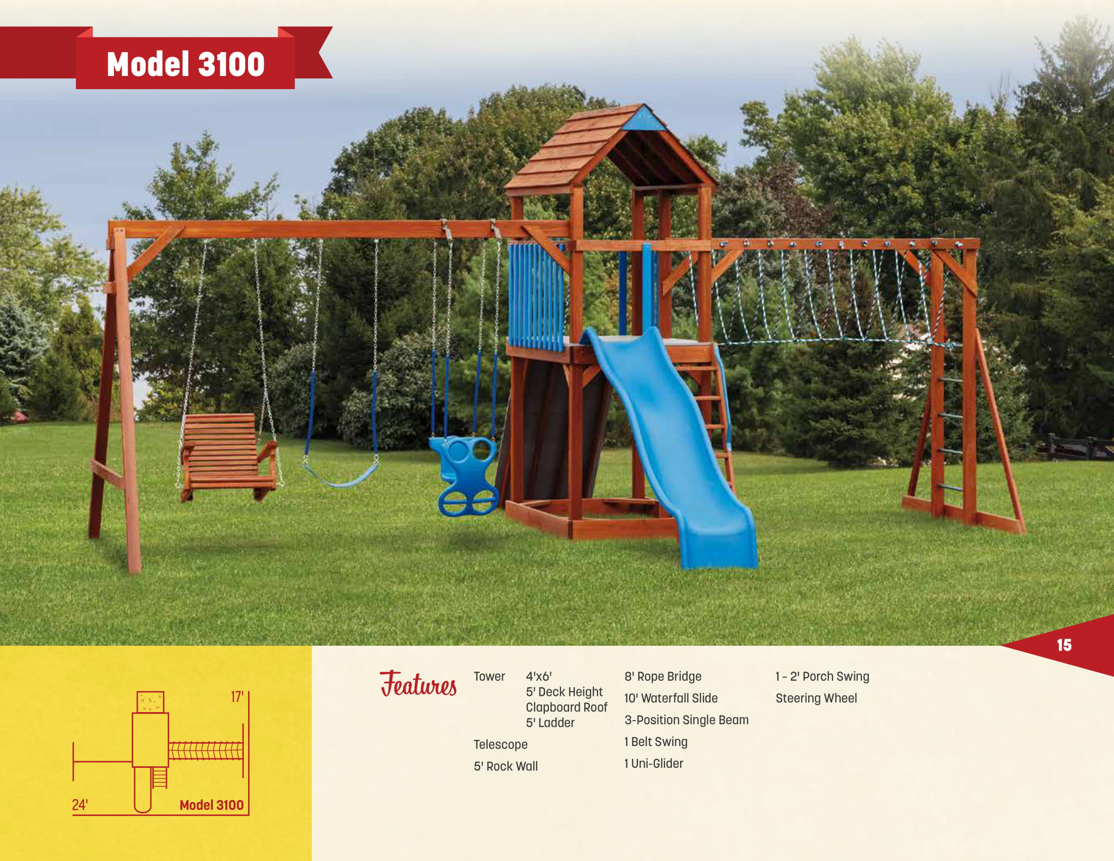 Wood Swings Sets Outdoor Furniture And Sheds In