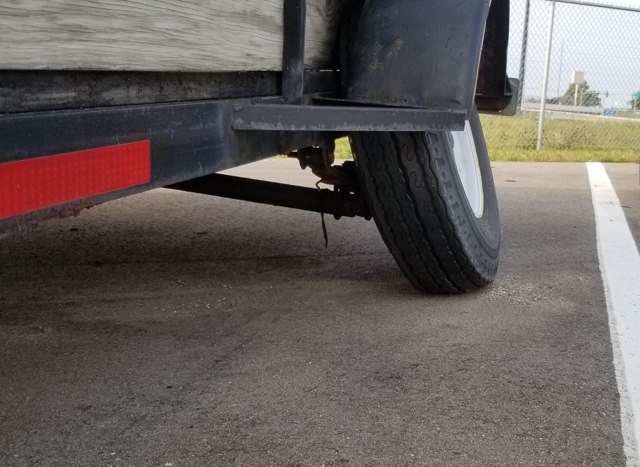 bent trailer axle
