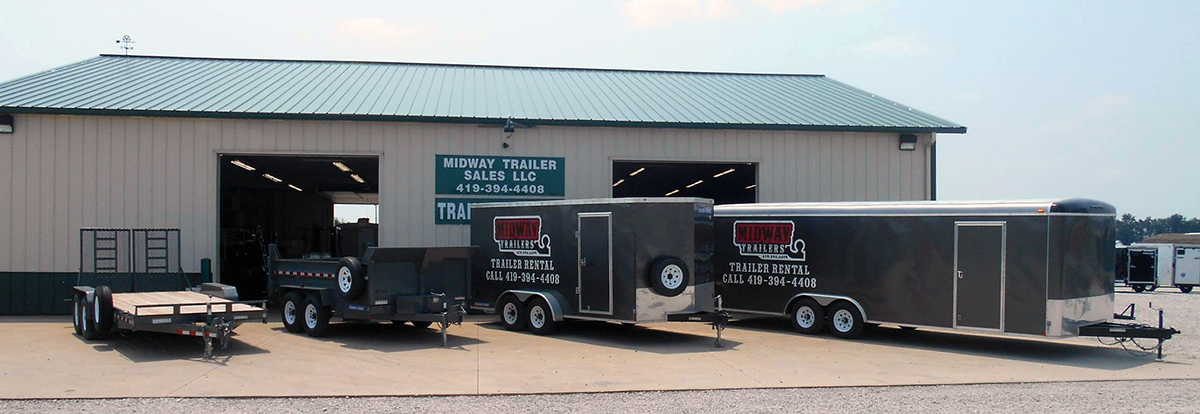 Trailer Rentals   Midway Trailers   Trailers in St. Marys, OH   Flatbed,  utility, dump, and cargo trailers in St. Marys, OH