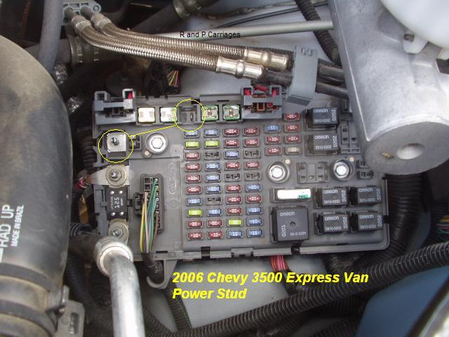 Trailer Brake controller install in a 2006 Chevy Express Van | R and P  Carriages | Cargo, Utility, Dump, Equipment, Car Haulers, and Enclosed  Trailers in Chicago, Ottawa, Dekalb, and Joliet, IL | Chevrolet Express Van Fuse Box |  | R and P Carriages
