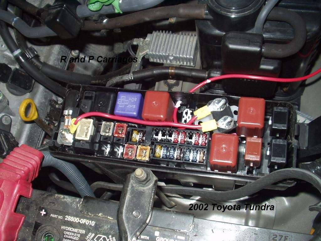 2002 Toyota Tundra (without Tow Package) Brake Controller Installation   R  and P Carriages   Cargo, Utility, Dump, equipment, Car Haulers, and  Enclosed Trailers in Chicago, Ottawa, Dekalb, and Joliet, ILR and P Carriages