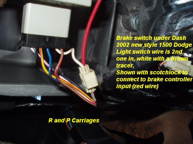 2003 dodge truck without tow package brake controller