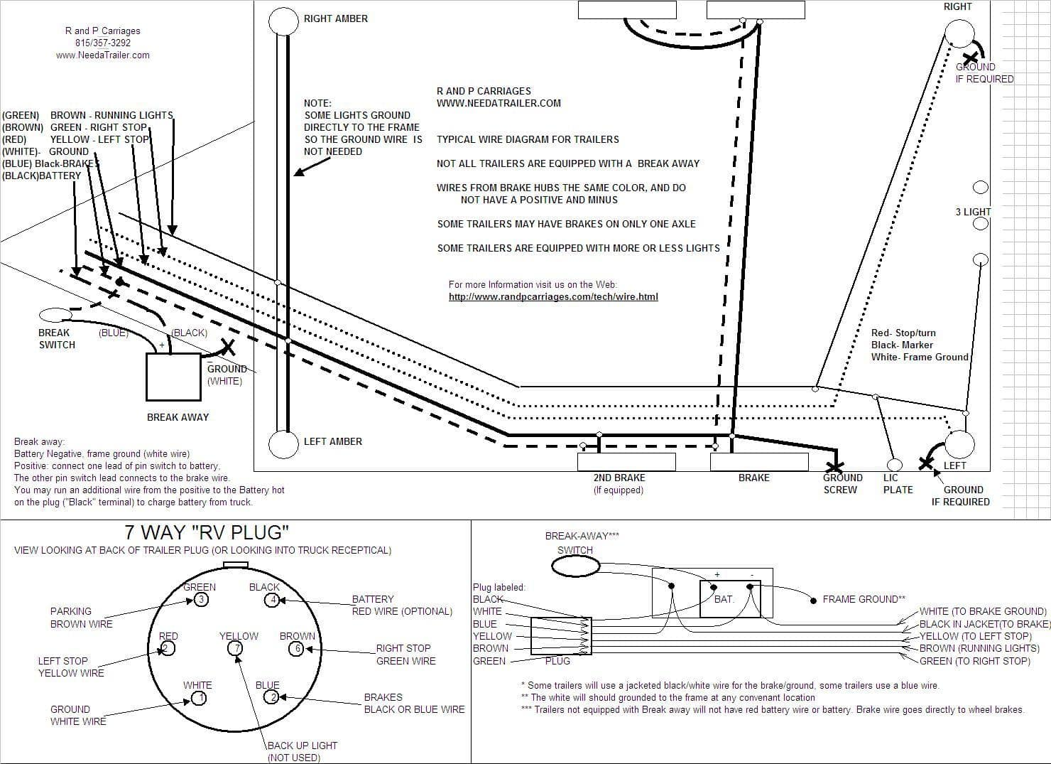 7 Way Plug Information | R and P Carriages | Cargo, Utility ...  Blade Wiring Diagram For Gooseneck Trailer on 4 blade trailer wiring diagram, 7 blade rv wiring, 7 blade trailer harness, 7 pin trailer connector diagram, 7 blade trailer wire, 7 blade trailer plug, 7 blade lighting diagram, 6 blade trailer wiring diagram, 7 blade wiring harness, 5 blade trailer wiring diagram,