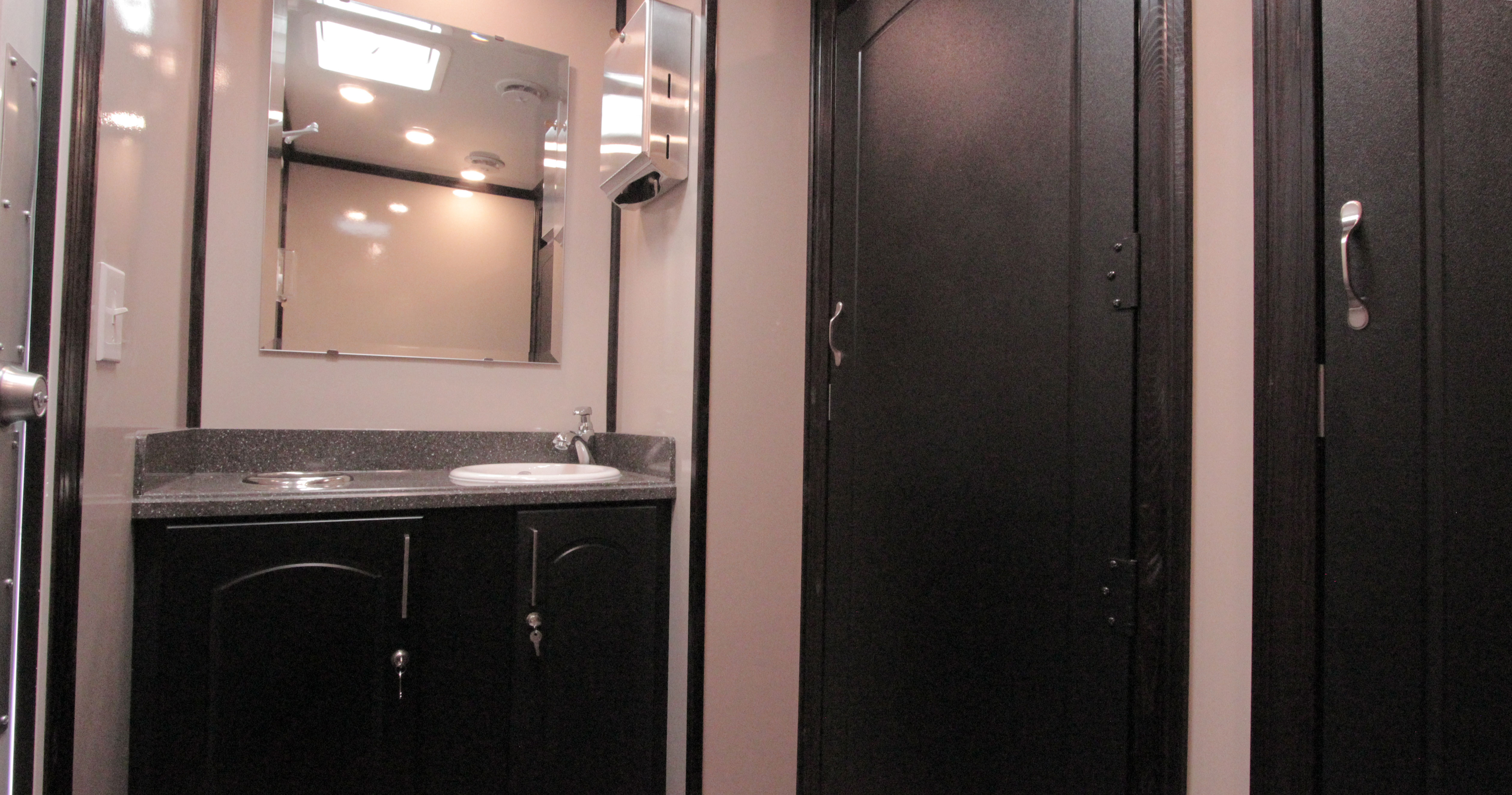 luxury restroom trailer vanity