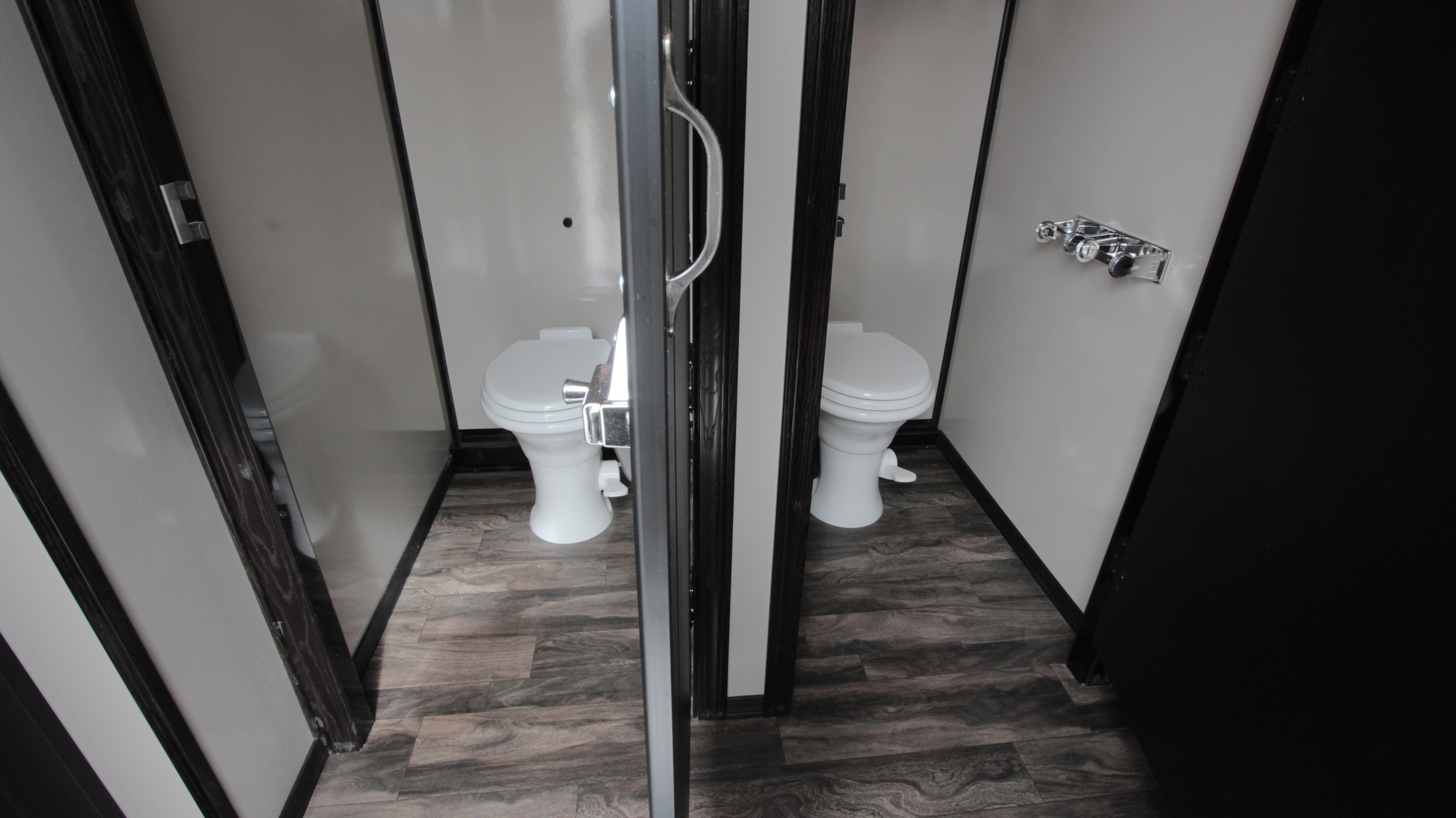 luxury restroom trailer stalls