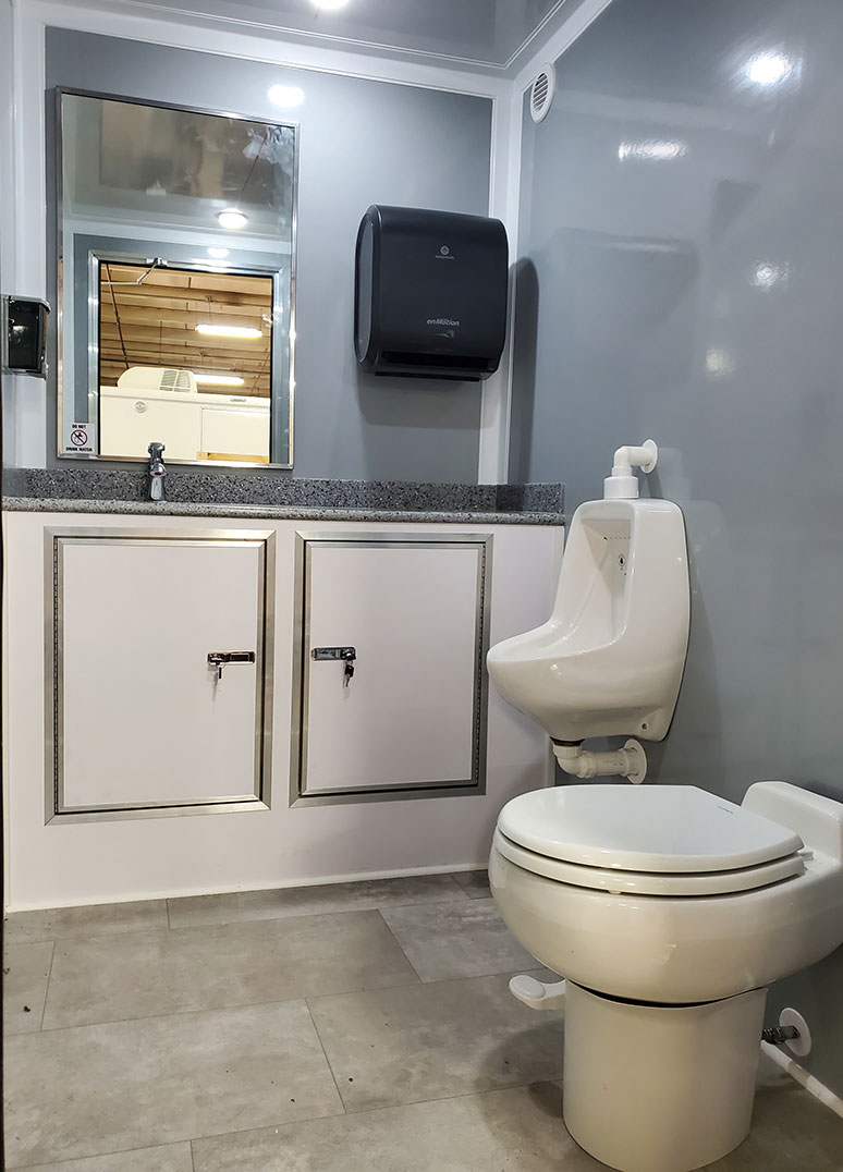 luxury restroom trailer urinal